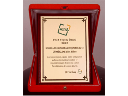 "Karaca was awarded in 2002 with ""Supplier Quality Award 2002"""
